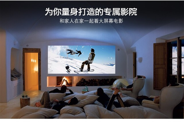 HD 1080P LED Multimedia Mini Projector Home Theater Cinema VGA HDMI ...