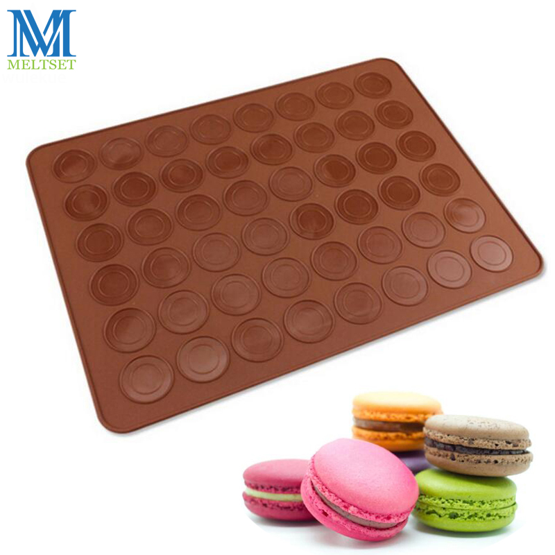 48 Cavity Macaron Silicone Mat Baking Sheet Pastry Tools DIY Dough Mat 38 28cm