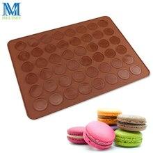 48-cavity macaron silicona estera bandeja para hornear pasteles herramientas diy dough mat 38*28 cm