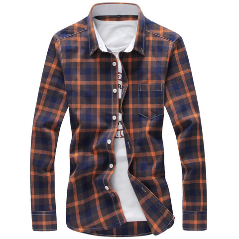 2019 Plaid Shirts Men Cool Design Full Length High Quality Cotton Spring Dress Shirts Camisa Masculina 5XL Plus Size Men Shirts Islamabad
