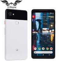 Neue Original EU Version 6 zoll Google Pixel 2 XL 128GB Handy Globale 4G LTE Snapdragon 835 octa Core 4GB Android NFC telefon