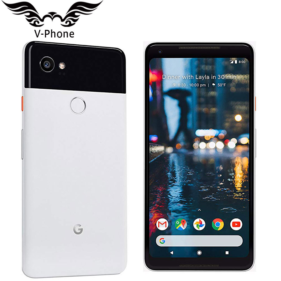 New Original EU Version 6 Inch Google Pixel 2 XL 128GB Mobile Phone Global 4G LTE Snapdragon 835 Octa Core 4GB Android NFC Phone