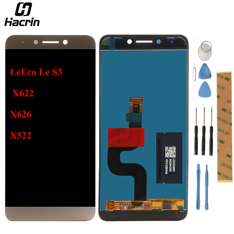 hacrin For Letv LeEco Le S3 X622 X626 X522 LCD Display +Touch Panel Digitizer Assembly 100% Tested LCD Screen Replacement Parts