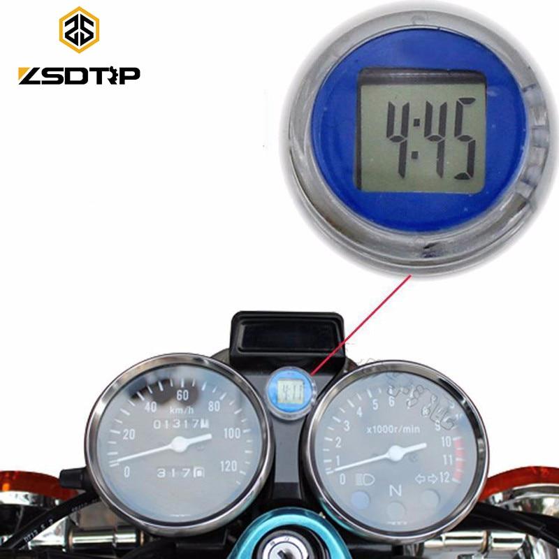 ZSDTRP Motorcycle Clock Watch Waterproof Stick-On Car Motorbike Digital Luminous Clock Time Temperature Display led automotive car electronic clocks watchesthermometer voltmeter luminous digital clock white dual temperature reverse display