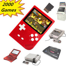 цена на Retro Mini Handheld Game Console  2000 Games with TF Card Slot for GBA for Snes for Nes for Sega Megadrive Games