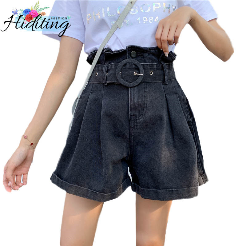 2019 Summer Women Shorts Fashion New Fat MM Large size Loose Female Denim Shorts High waist Thin Ladies Short Pants WIN804