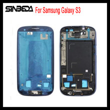 Sinbeda New Front Housing LCD Plate Case Midframe Mid Frame Middle Bezel Replacement Part For Samsung Galaxy S3 I9300(China)