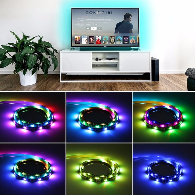 Potenco led strip black usb charger supply rgb led strip light tv potenco led strip black usb charger supply rgb led strip light tv backlight ribbon lamp with aloadofball