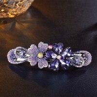 2017 Fashion Flower Hairpin Hair Clips For Women Luxury Full Imitation Crystal Hair Pin Barrette Hairpin