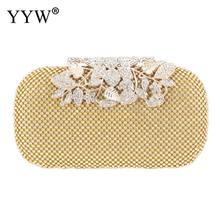 Flower Crystal Design Evening Bag Clutch Bags Clutches Wedding Purse Rhinestones Wedding Handbags Evening Bag Gold Silver Black 2018 fashion evening bags gold silver clutch bag blue red evening clutch wedding bride clutches purse women bag mini handbags