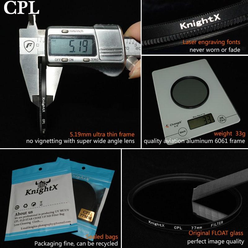 KnightX 52mm 58 67 77mm MM UV CPL FLD Kit de filtro infrarrojo Filtro - Cámara y foto - foto 3