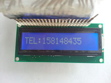 1 шт 16x1 1601 ЖК-дисплей модуль 16*1 символ ЖК-белая подсветка 5 в 80*36 мм hd44780