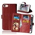 Flip phone pouch para iphone 5 6 7 além disso pu leather titular carteira de bolso capa para iphone 7 7 plus 6 s plus 5 s se caso 9 slot para cartão