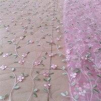 DIY estiramiento Bordado floral minúsculo Encaje Telas, Bordado falda Encaje Telas
