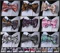 Floral Paisley Bow Tie Houndstooth homens gravata borboleta, 100% de seda tecido de casamento Bow Tie partido Tuxedo Formal clássico auto Bow Tie # FB