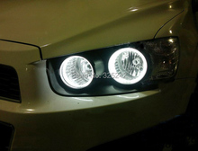 Para Chevrolet AVEO de Sonic T300 2011 2012 2013 2014 Excelente Ultrabright iluminación Angel Eyes CCFL Angel Eyes kit de Halo Anillos