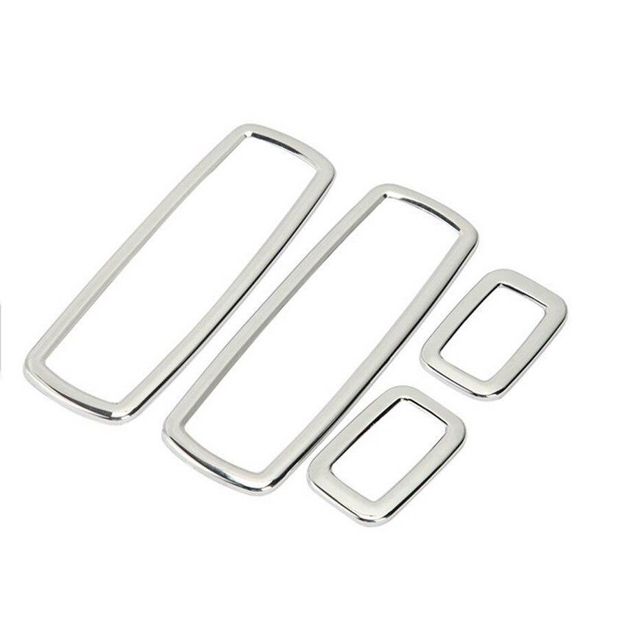 4pcs/Set ABS Chrome Trim Window Buttons Decoration Armrest Ts