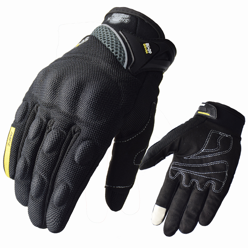 SUOMY Motorcycle riding gloves motorcycle gloves Full finger motocross motorbike gloves luvas da moto Touch Screen Black M-XXL