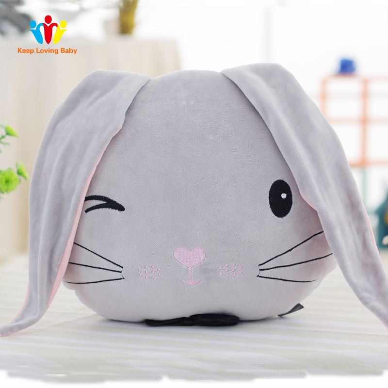 Cute Bunny Baby Pillow Plush Toys Kids Room Decor Baby Bed Sleeping Accessories Pillow Children Photography Props