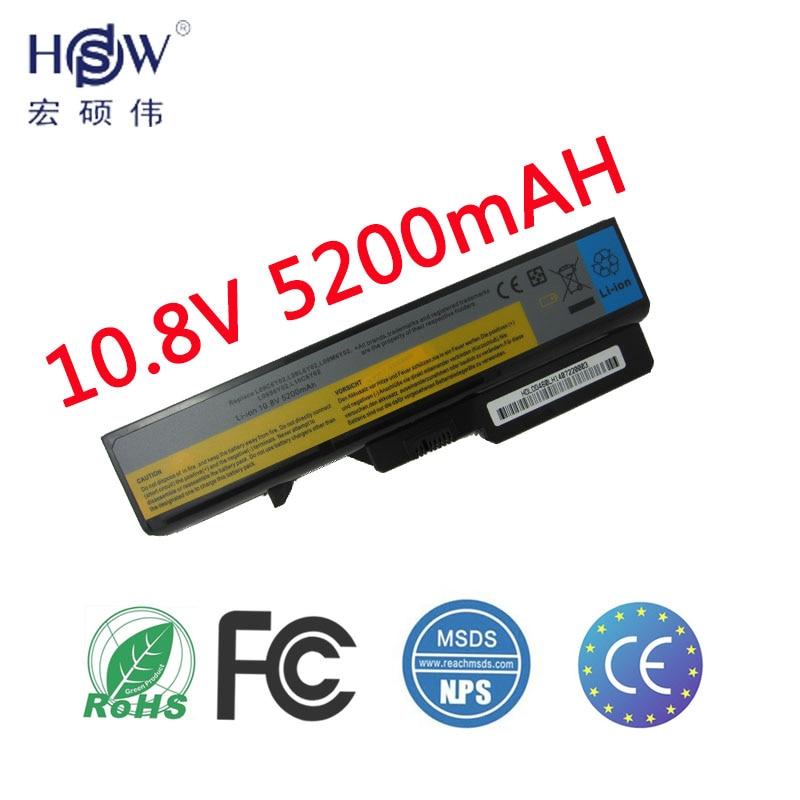 HSW Laptop Laptop עבור Lenovo IdeaPad G460 G560 V360 V370 V470 B470 G460A G560 Z460 Z460 Z560 Z565 Z570 LO9S6Y02 LO9L6Y02battery