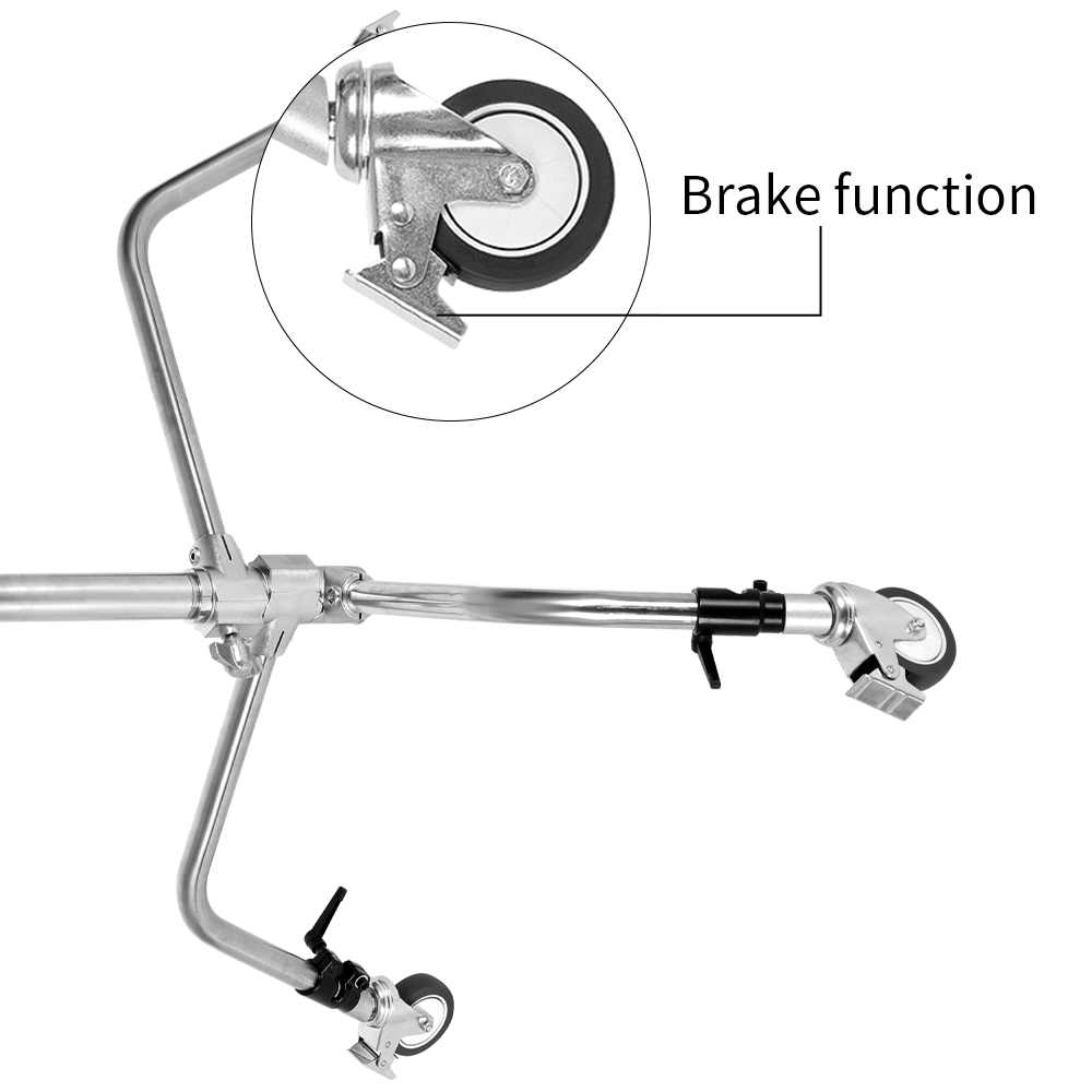 Profesional Pro 3 ruedas multifunción estudio de fotografía iluminación pesada siglo C soporte especial rueda accesorios de fotografía - 4