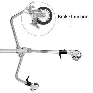 Image 4 - Professionnel Pro 3 roues multi fonction Studio de photographie éclairage lourd Century C support spécial roue accessoires de photographie