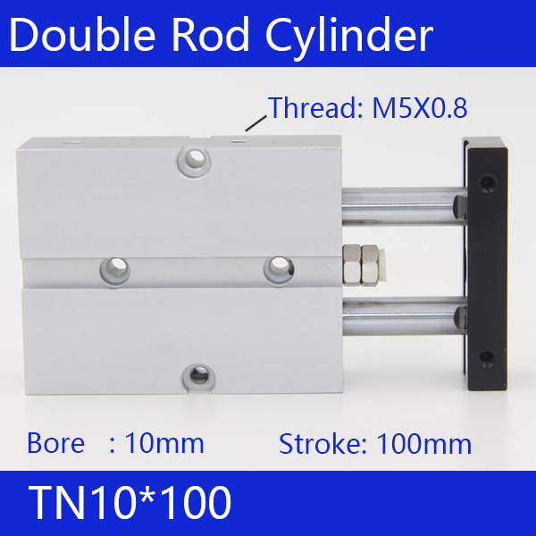 TN10*100 Free shipping 10mm Bore 100mm Stroke Compact Air Cylinders TN10X100-S Dual Action Air Pneumatic Cylinder 100 10 p07173
