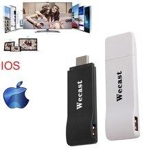 AIRE Juego Wifi display hdmi dongle Inteligente stick de TV chromecast miracast mirroring Receptor Soporte IOS Para Iphone