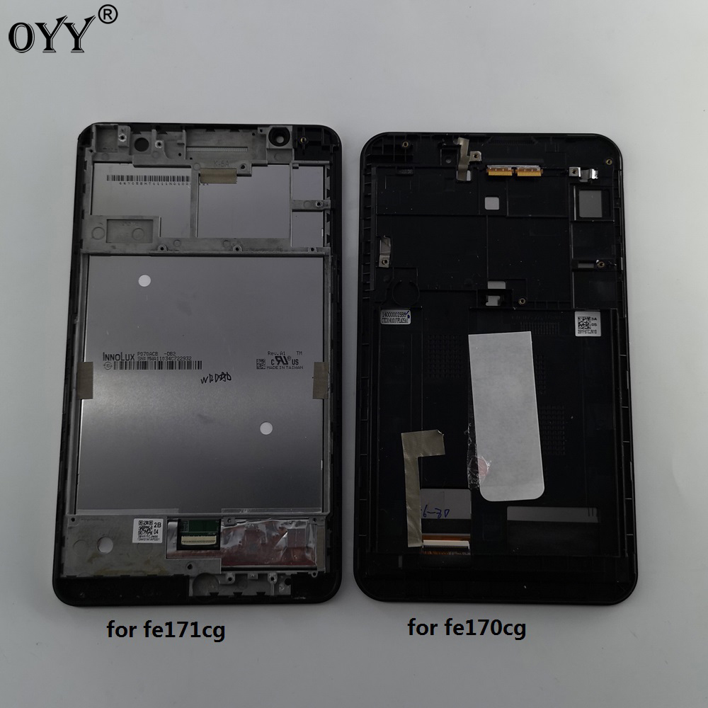 LCD Display Matrix Touch Screen Digitizer Assembly with frame For <font><b>ASUS</b></font> FE7010CG FE170CG <font><b>K012</b></font> k017 FE171MG FE171CG K01F K01N image