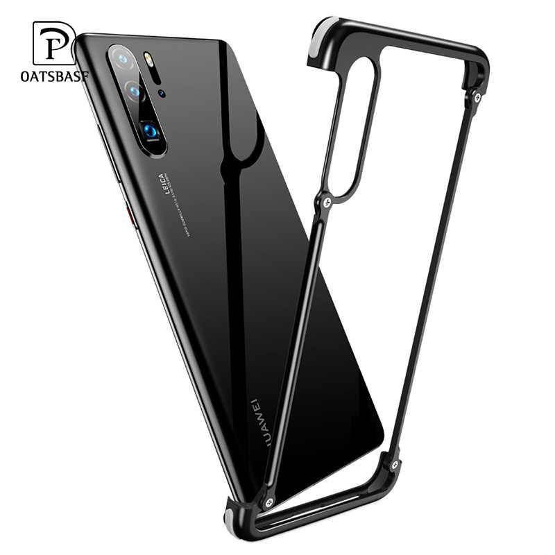 OATSBASF Airbag Metal Case For huawei p30 case luxury Personality Shell for Huawei P30 Pro case Slim Metal Bumper Back Cover