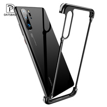 OATSBASF Airbag Metal Case For huawei p30 case luxury Personality Shell for Huawei P30 Pro Slim Bumper Back Cover