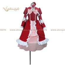Kisstyle moda negro mayordomo elizabeth dancing dress cos ropa cosplay traje de uniforme, modificado para requisitos particulares aceptado