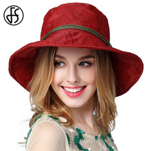 FS Ladies Hat Summer Beach Wide Brim Foldable Sun Hats For Women Floppy Fashion Breathable Outdoor Visor Cap Sombrero Mujer