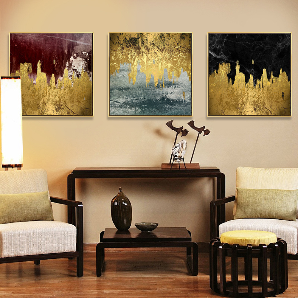 Abstract Block Oil Painting Lanscape Wall Art Canvas  And Print Canvas Painting Decorative Picture For Living Room Home Decor