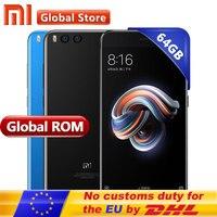 Original Xiaomi Mi Note 3 6GB 64GB Mobile Phone Mi Note3 Cellphone Snapdragon 660 Octa Core Android Phone Dual 12.0+16.0MP