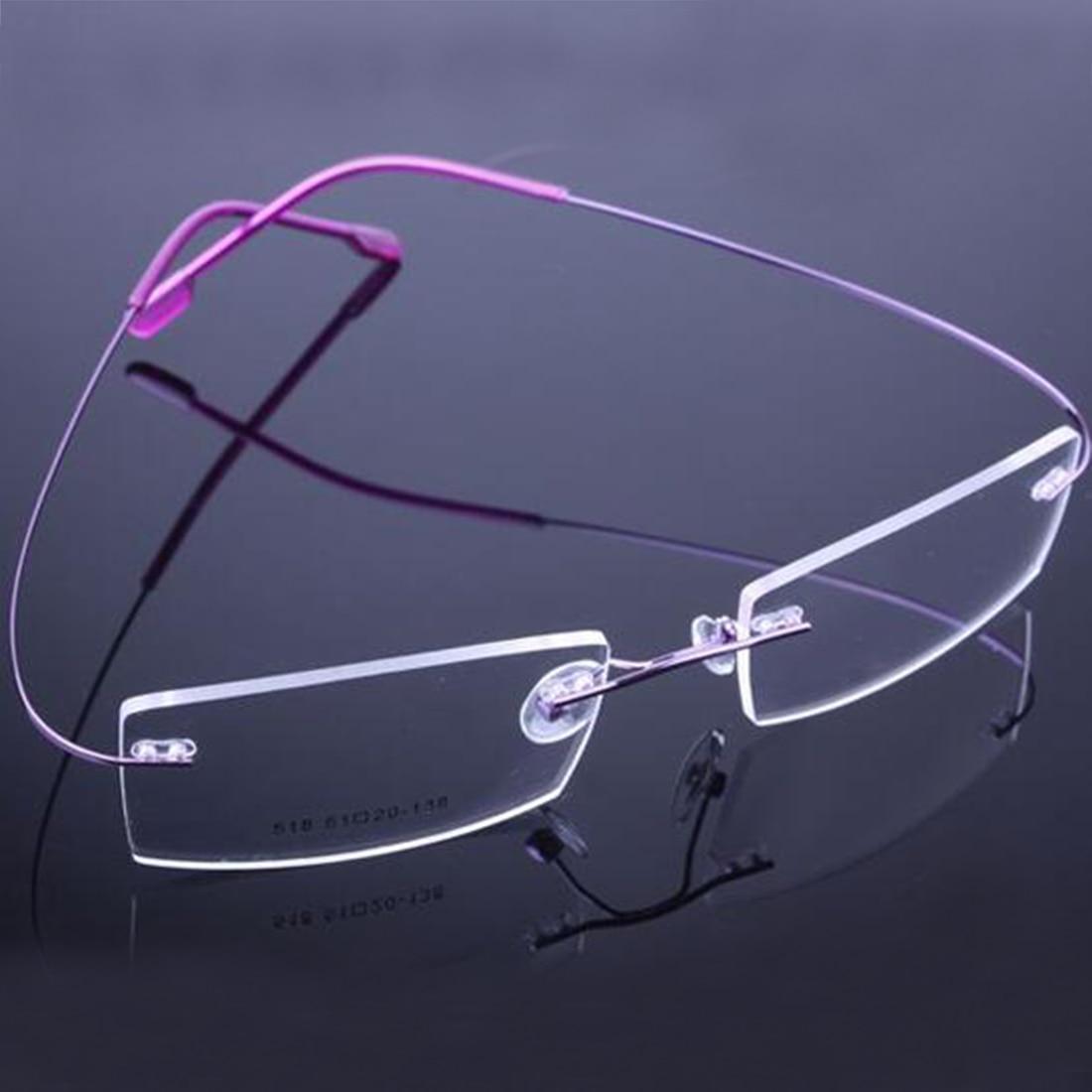 أعلى بيع التجزئة 9 ألوان خفيفة بدون شفة نظارات إطارات الذاكرة التيتانيوم النظارات النظارات الطبية إطارات البصرية