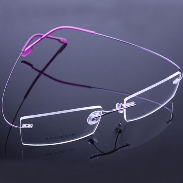 2b96b8776c Top Sell Retail 9 Colors Lightweight Rimless Glasses Frames Memory Titanium  Eyeglasses Spectacle Prescription Optical Frames