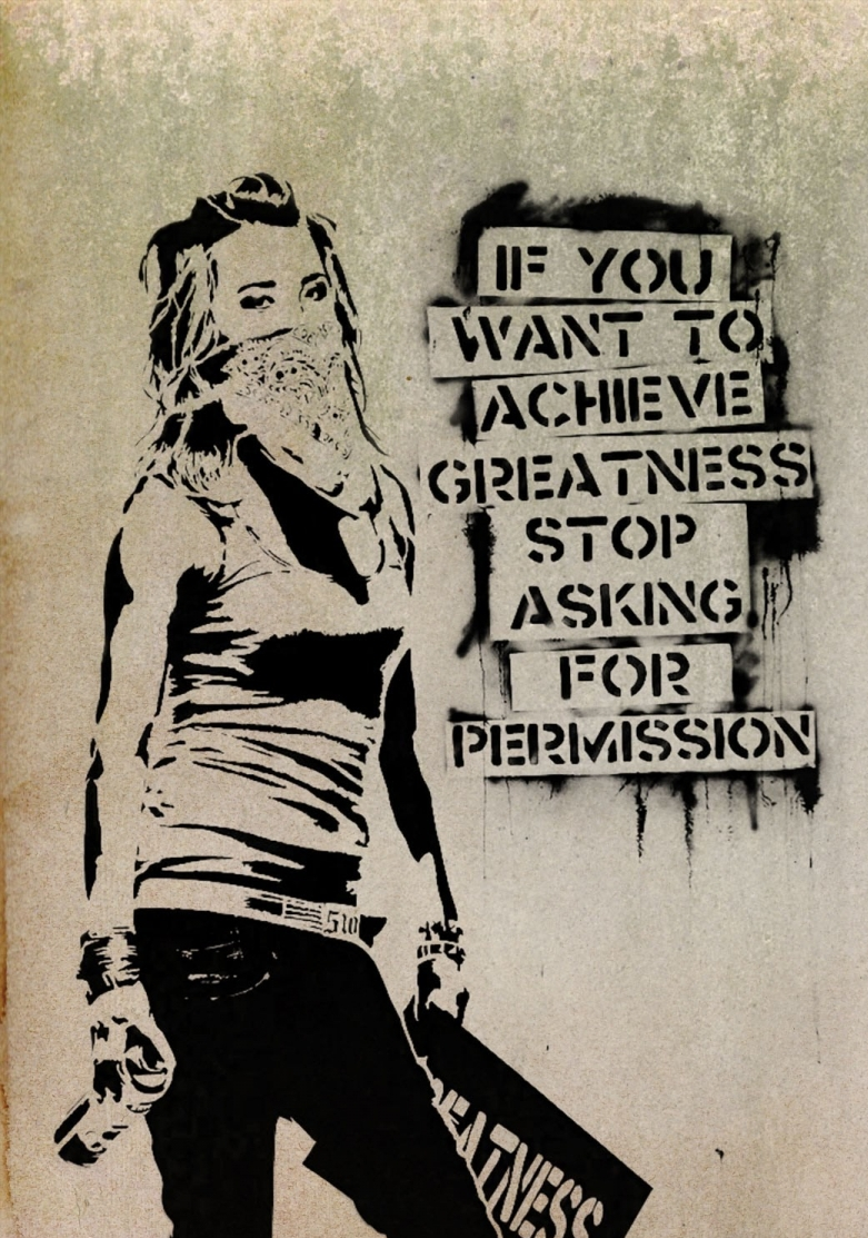 Anarchy graffiti art women diy paper posters stickers canvas wall poster 24x32 20x30 16x24 14x20 12x16 inch home decor in wall stickers from home