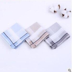 Image 2 - 12個メンズハンカチ綿100% の正方形スーパーソフト洗えるハンカチ胸タオルポケット正方形43 × 43センチメートル