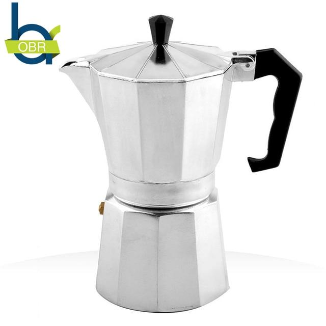 Obr 120ml 240ml Aluminum Moka Coffee Pot French Pressure Machine Maker European Standard