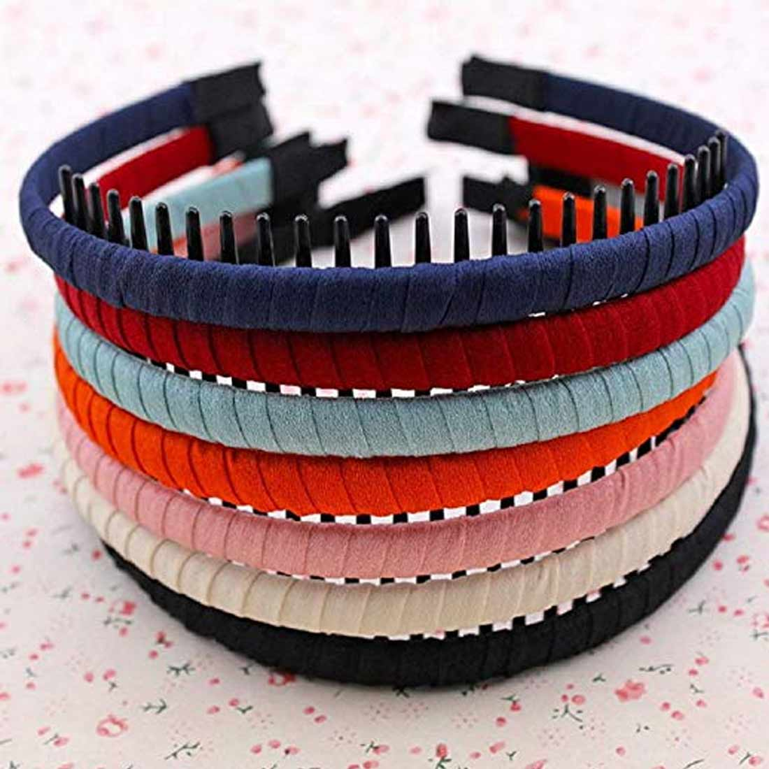 Korean Version High Quality Cloth Wrap Headband with Teeth Kids Girls Hair Hoop Headdress For DIY Jewelry Accessories