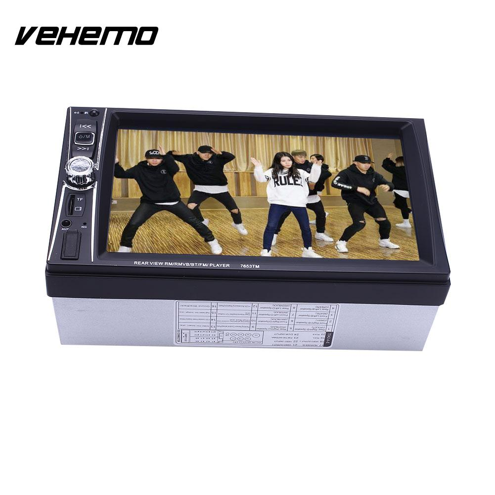 Vehemo Universal MP5 Player Bluetooth 7 Inches Car Kit Video Player HD 1080P AUX 2Din Multimedia Player Premium Quality 7 inch 2 din bluetooth car stereo multimedia mp5 player gps navigation fm radio auto rear view camera steering wheel control