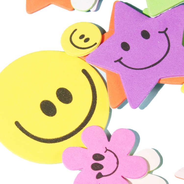 1 sac/lot. Sourire fleur mousse autocollants apprentissage précoce jouets éducatifs maternelle artisanat bricolage jouet couleur apprentissage artisanat créatif