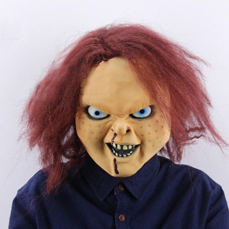 Image 4 - Детская игра Чаки маска Террор Хэллоуин страшные взрослые полный голова опора косплей латексные маски-in Аксессуары для костюмов from Новый и особенный в использовании