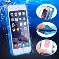 KISSCASE caso impermeable para el iPhone 5 5S 6 6 s más híbrido TPU pantalla táctil cubierta subacuática para iPhone 6 6 s más 7 8 Plus cubierta
