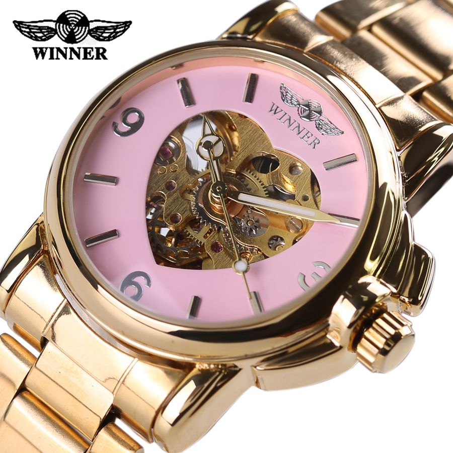 Hot Sell 2016 Automatic Watch Women Winner Brand Watch Fashion Luxury Brand Strap Sport Mechanical Clock