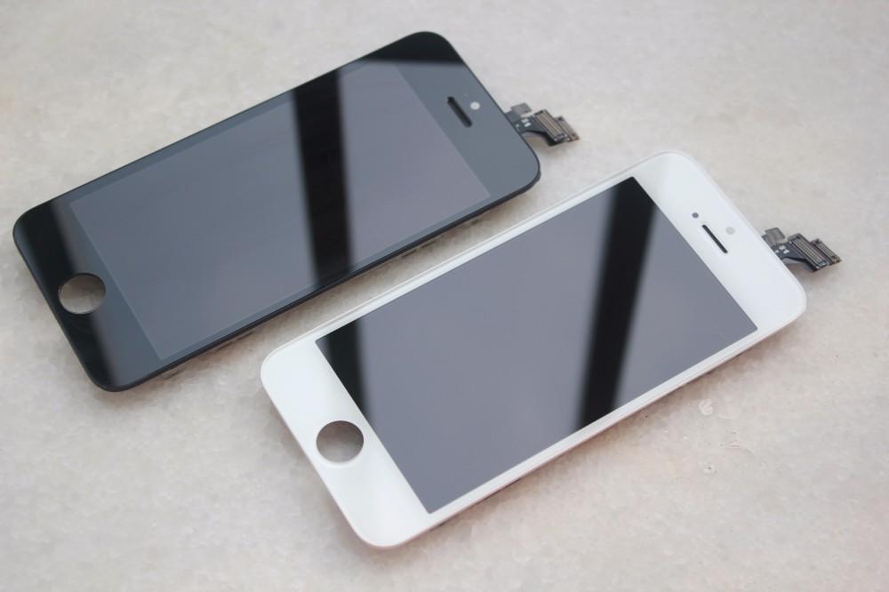 Czarny gwarancja 100% aaa wymiana wyświetlacza dla iphone 5 iphone 5c iphone 5s lcd z ekranem dotykowym digitizer pełna zgromadzenia 10