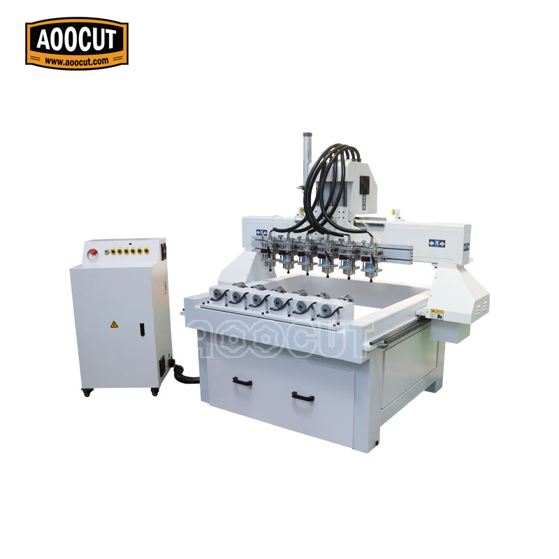 High power spindle direct manufacture Aoocut 1718 multi heads cnc woodworking machine for wood processing 1