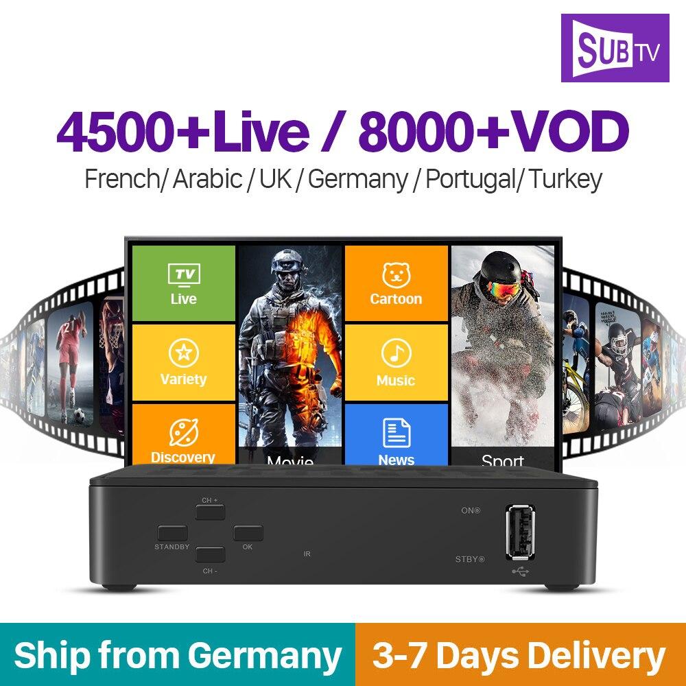 Франция IP tv Box Linux set top box Blomc 1 SUB ТВ приемник IP tv подписка 1 год арабский Бельгия Португалия IP tv поддержка Сталкер