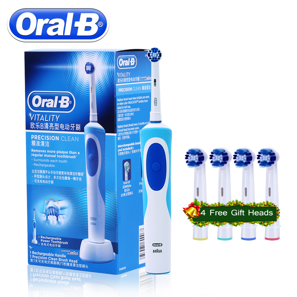 Oral B Electric Toothbrush Rotating Vitality D12013 Rechargeable Teeth Brush Oral Hygiene Sonic Tooth Brush Teeth